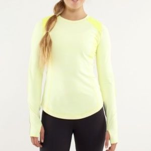 a8a5ca95af lululemon athletica Tops - Lululemon Ice Queen Long Sleeve (8) Yellow